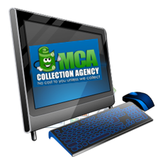 Computer with MCA Logo