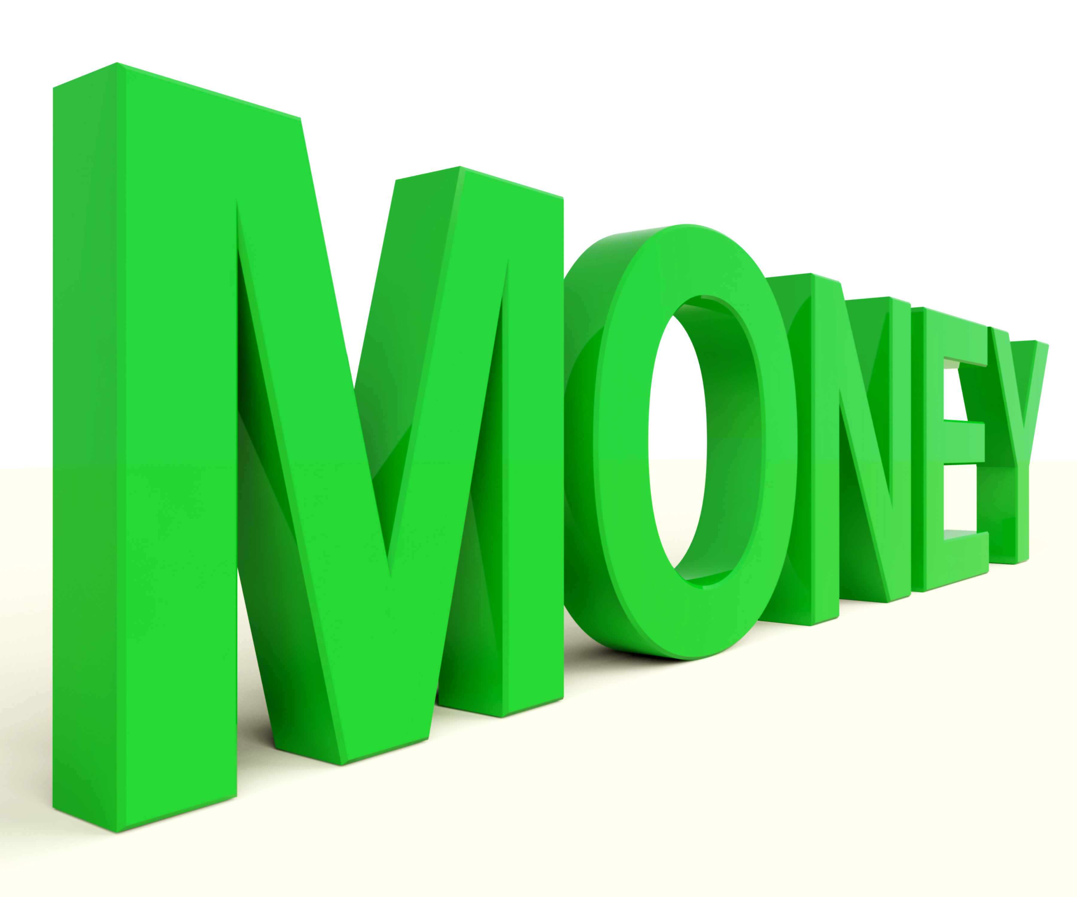 Money Text In Green As Symbol For Wealth And Finance Third Party