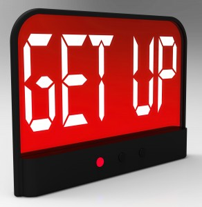 Get Up Clock Message Means Wake Up And Rise